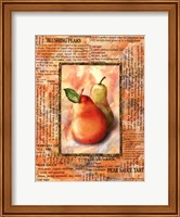 Framed Blushing Pears