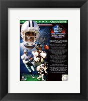Framed Deion Sanders 2011 Hall of Fame Composite