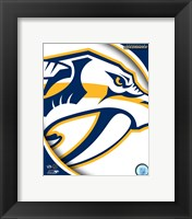 Framed Nashville Predators 2011 Team Logo
