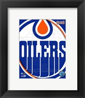 Framed Edmonton Oilers 2011 Team Logo