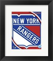 Framed New York Rangers 2011 Team Logo