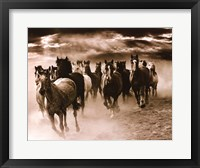 Framed Running Horses