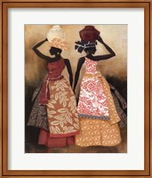 Framed Village Women II