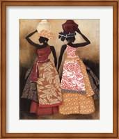 Framed Village Women II