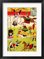 Framed Hiroshige III, Big French Circus on the Grounds of Shokonsha Shrine, 1871