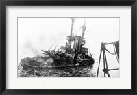 Framed HMS Irresistible Abandoned March 18,1915