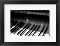 Framed Steinway & Sons, Piano Keys With Modern Logo