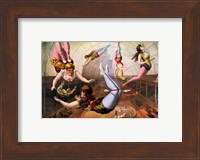 Framed Trapeze Artists in Circus