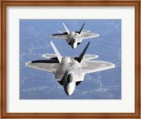 Framed Two F-22A Raptor in Column Flight