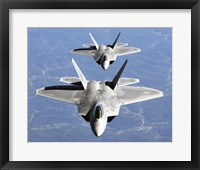 Framed Two F-22A Raptor in Column Flight