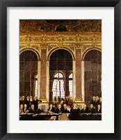 Framed William Orpen - The Signing of Verailles Treaty