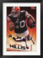 Framed Browns - P Hillis 11