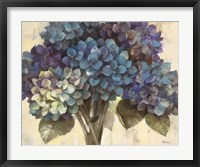 Framed Turquoise Hydrangea