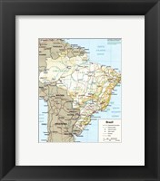 Framed Brazil Map