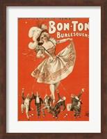 Framed Bon-Ton Burlesquers Vertical