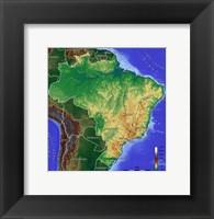 Framed Brasilien Map