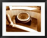 Framed Classic Nautical Compass