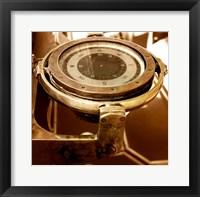 Framed HMS Belfast - Admiral's Bridge Compass