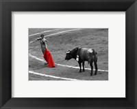 Framed Red Matador I