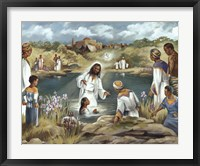 Framed Baptism at River's Edge