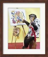 Framed Monkey Artist