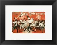 Framed Bon-Ton Burlesquers