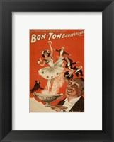 Framed Bon-Ton Burlesquers With Server