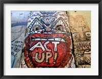 Framed Act Up - Berlin Wall