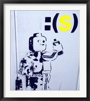 Framed Leggo Man Graffiti - Israel