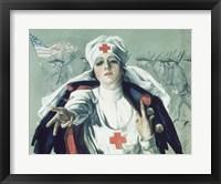 Framed Red Cross Nurse