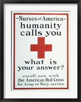 Framed Nurses of America Humanity Calls You Enroll now with the Red Cross