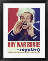 Framed Buy War Bonds Regularly