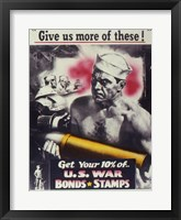 Framed Give Us More U.S. War Bonds