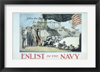 Framed Follow the Boys in Blue for Home and Country Enlist in the Navy