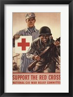 Framed Support the Red Cross