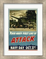Framed Your Navy First Line of Attack
