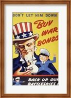 Framed Don't Let Him Down! Buy War Bonds