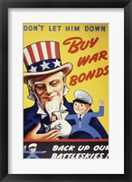 Framed Don't Let Him Down! Buy War Bonds
