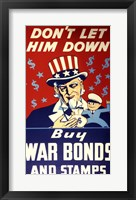Framed Buy War Bonds and Stamps