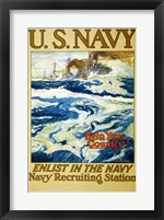 Framed Navy Recruiting Station