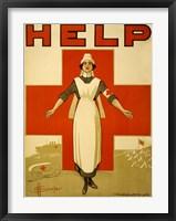 Framed Help, Red Cross Nurse