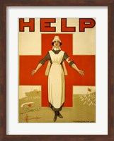 Framed Help, Red Cross Nurse
