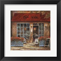 Cafe Nikki Framed Print