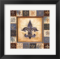 Framed Bleu Fleur De Lis II