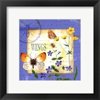 Framed Butterfly Meadow I