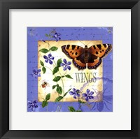 Framed Butterfly Meadow II