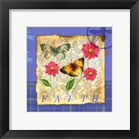 Framed Papillion Plaid II