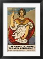 Framed Kenyon Cox WWI Poster