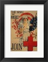 Framed Howard Chandler Christy WWI Poster