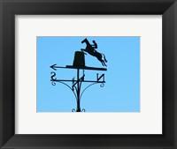 Framed Weathervane Iron Horseman